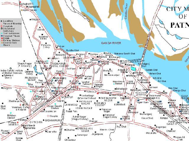 Patna In India Map.Patna City India Maps